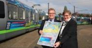 Ausbildungsplatzsuche:üstra-Stadtbahn wirbt für www.azubi21.de