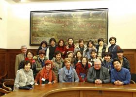 Koreanische Floristen im Rosenschloss