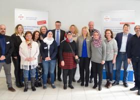 GFN-Trainingscenter in Merzig feiert einjährigen Geburtstag:  Bürgermeister Marcus Hoffeld besucht Bildungsträger