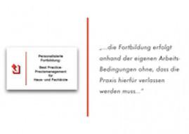 """Personalisierte Fortbildung """"Best Practice-Praxismanagement"""" für Haus- und Fachärzte"""