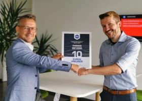 10-jähriges Jubiläum für Thomas Metzger bei Feha Büro-Technik