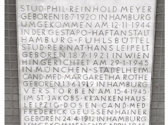 Studierende im Widerstand / Drei Reden zum Gedenken an die Hamburger Weiße Rose / Veröffentlicht anlässlich des 100. Geburtstags von Hans Leipelt am 18. Juli 2021 (FOTO)