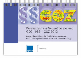 Kurzverzeichnis Gegenüberstellung GOZ 1988 – GOZ 2012