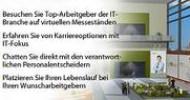 """JobLeads und ubivent präsentieren Deutschlands größte Online-Karriere-Messe """"IT-Jobmesse"""" mit Schwerpunkt IT"""
