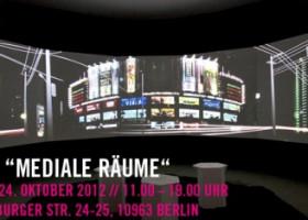 """Konferenz""""Mediale Räume""""zum Auftakt des Master-Studiengangs an der BTK – Hochschule für Gestaltung"""