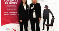 Alterssimulationsanzug GERT auf der französischen Abschlusskonferenz zum europäischen Jahr des aktiven Alterns